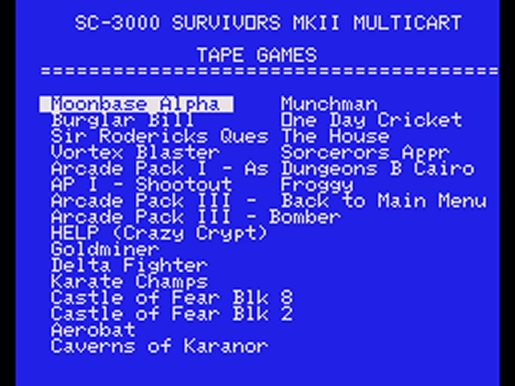 SC-3000 / SC-3000H Multicart News